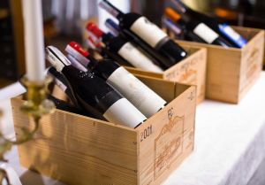 wine cases and labels